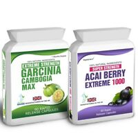 90 Garcinia Cambogia 60 Acai Berry Extreme Plus Free Weight Loss Dieting Tips