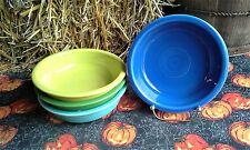 Lot 4 19OZ CEREAL soup BOWL turquoise shamrock lemongrass + FIESTAWARE FIESTA