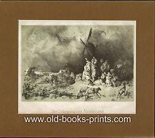 Nordstrand-affondamento-ORIGINALE-LITOGRAFIA del 1860!