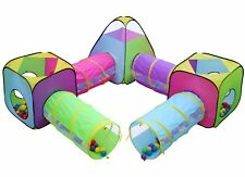 Kids 8pc Play Tent and Tunnel Pop up Playhouse Jungle Toy Set w/Bag, FAST SHIP!!