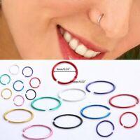 40pcs 316L Stainless Steel Lot Body Nose Lip Open Earring Hoop Ring Stud Jewelry
