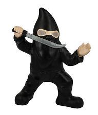 Ninja Gnomo De Jardín Solar Powered Ojos Warrior Nuevo Novedad Regalo Samurai