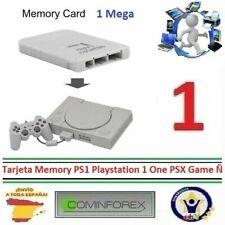 Tarjetas de memoria para consolas de videojuegos con 1MB de almacenamiento