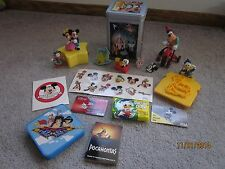 Lot of 17 DISNEY items-VINTAGE Goofy toy, WDW tin, Mickey pencil sharpener MORE