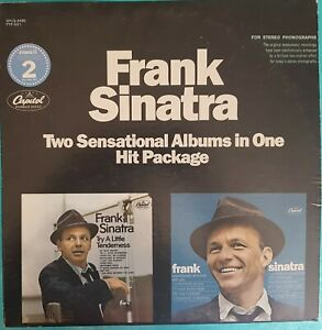 DOUBLE ALBUM 33 TOURS FRANK SINATRA  TWO SENSATIONAL ALBUM IN ONE HIT PACKAGE