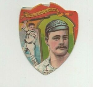 John Baines of Bradford Cricket Card - Gilbert Jessop Gloucester