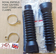 Fork Gaiters Dust Cover With Clamps BULLET Royal Enfield Motorcycle Spares part