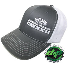 Ford Powerstroke richardson 112 hat truck Charcoal Gray White mesh snap back