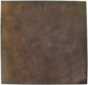 ELW Leather Square 12x12 2.0mm 5/6oz Thick Full Grain Cowhide Leather Brown