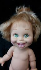 "GALOOB 1990-""NATALIE"" # 5 BABY FACE DOLL BLONDE HAIR/GREEN EYES"