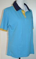 BASEFIELD Herren T-Shirt Poloshirt Kurzarm Baumwolle Blau/Gelb  L 52