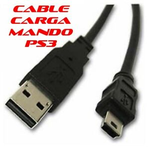 PS3 CABLE CARGA CARGADOR USB MANDO INALAMBRICO 3 MT CONSOLA PLAYSTATION 3
