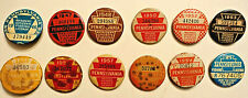 (12) Pennsylvania Resident Citizen's Fishing License Pinbacks: 1946-1959,1975
