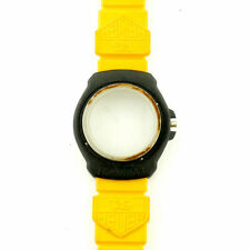 TAG HEUER VINTAGE FORMULA 1 BLACK CASE + YELLOW STRAP FOR PARTS OR REPAIRS