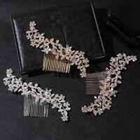 Bling Bridal Headpiece Bride Barrette Crystal Rhinestone Comb Hair Comb/Clip