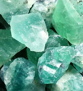 Green Flourite Natural Crystal Raw Rough Untreated LARGE 1-2.5 inch 1 pc