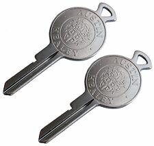TWO (2) Austin - Healey crested FS blank keys