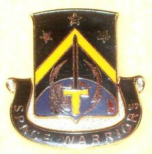 """US Army 1st Space Battalion """"Space Worriers"""" DUI Insignia Crest Badge Pin"""