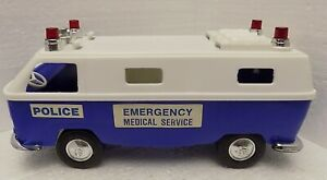 Processed Plastic Toy Volkswagen Bus Police Emergency Medical Service VW Rescue