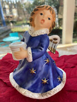 """Rare Vintage Goebel Skrobek Blue Angel Figurine42-328-15, 6 1/4"""" Christmas gift"""