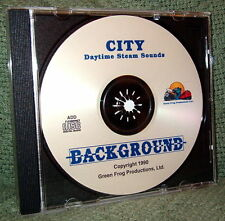"""56008 MODEL RAILROAD SOUND EFFECTS AUDIO CD """"CITY DAY STEAM"""""""