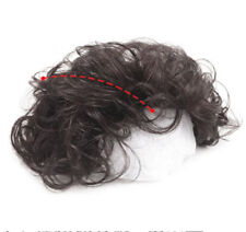 100% Human Hair Curly Topper Toupee Hairpiece Top Wigs Men Women
