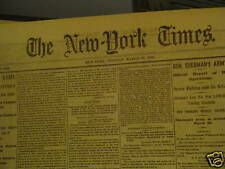 Antique Newspaper 1865, Original, Civil War, Gen. Sherman, Gen. Grant, History