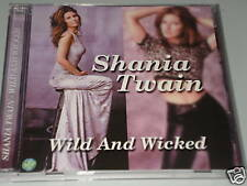 SHANIA TWAIN WILD AND WICKED CD ALBUM MIT BITE MY LIP/ FOR THE LOVE OF HIM  (YZ)