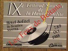Carte postale,Festival nantais de la haute fidelité,1988 ,CPSM