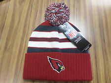 NFL Team Apparel ARIZONA CARDINALS Knit Cuff Pom Hat -  NWT