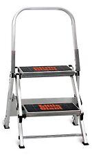 Little Giant 10210B A Jumbo Aluminum 2 Step Safety Step Stool / Stepladder