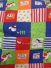 Funky Farm Animal Themed Fabric Remnant (50cm x 50cm)