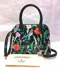 Kate Spade PXRU7717 Cameron Street JARDIN Maise Bag Satchel BLACK FloralBird NWT