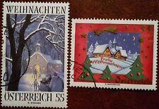 Weihnachtsmarken 2005 zu 55 Cent gest.Mi-Nr.2561+2563 / ANK 2595+2597