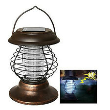 Solar Powered Outdoor Mosquito Fly Bug Light Insect Zapper Killer Trap Lamp LSRG