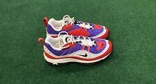 Nike Air Max 98 Raptors Women's Shoes (AH6799-501) White Purple Red / Sz 9.5 AE7