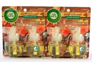2 Packs Air Wick 1.34 Oz Vanilla & Caramel 2 Count Scented Essential Oil Refills
