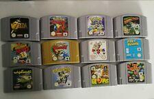 N64 große Spielesammlung 12 Spiele ( Zelda, Pokémon Stadium...) super Zustand!!!