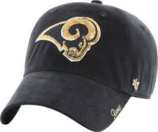 St. Louis Rams Women's NFL Facet Clean Up Sparkle Cap 47 Brand Adjustable NEW