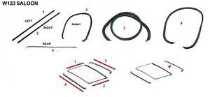 FIT FOR Mercedes Benz W123 SEDAN SALOON Sunroof MOONROOF Seal Gasket Set 4 PCS