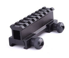 Tactical 1'' Compact Weaver-picatinny High Profile See Through Riser Rail Sight