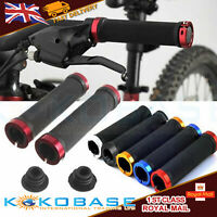2X DOUBLE LOCK ON LOCKING BMX MTB MOUNTAIN BIKE CYCLE BICYCLE HANDLE BAR GRIPS