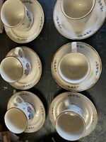 International China Heartland Stoneware Farm Japan Lot Of 6 Cups And Saucers
