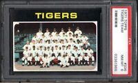 1971 TOPPS #336 DETROIT TIGERS TEAM PSA 8 NM/MT