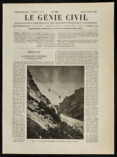 1909, Le funiculaire du Wetterhorn : Vue des cabines au milieu d'un trajet