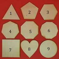Wooden laser Ply Shape Coaster Plain Wood Craft blanks Embellishments Decoration