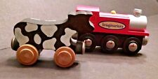 Imaginarium Wooden Engine Car & Cow Shaped Wooden Car Thomas Brio Compatible