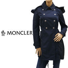 NWT MONCLER Size 3 Black Silver-Buttoned Layered Hinata Trench Rain Coat $1250