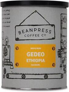 Beanpress - Ethiopian Yirgacheffe Arabica Coffee Beans - Fresh Light Roast - Med