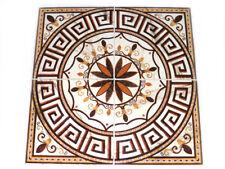 Bodendekor 90x90cm Fliese Rosone Boden Dekoration Dekor Aitana beige braun ocker